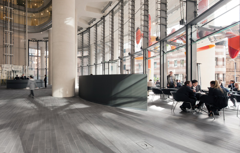 Office lobby and cafe space