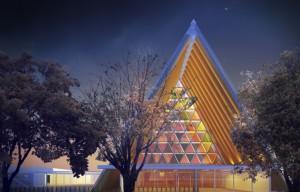 Shigeru Ban's cardboard cathedral for Christchurch