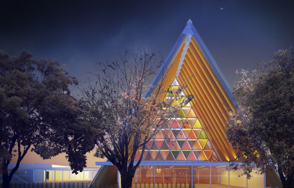 Shigeru Ban's cardboard cathedral for Christchurch