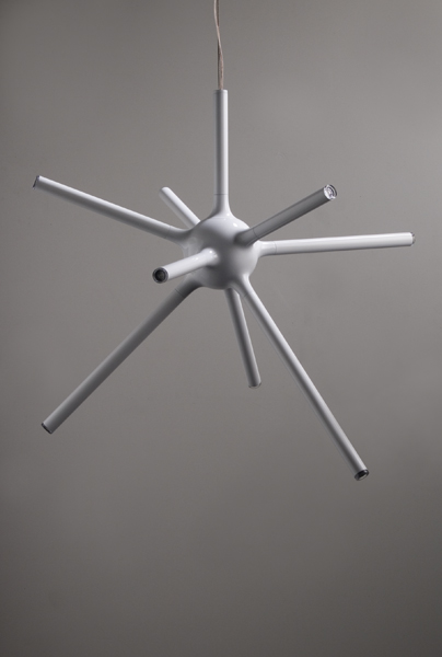 The Urchin pendant light (2007), constructed from polyurethane-coated aluminium tubes and LEDs