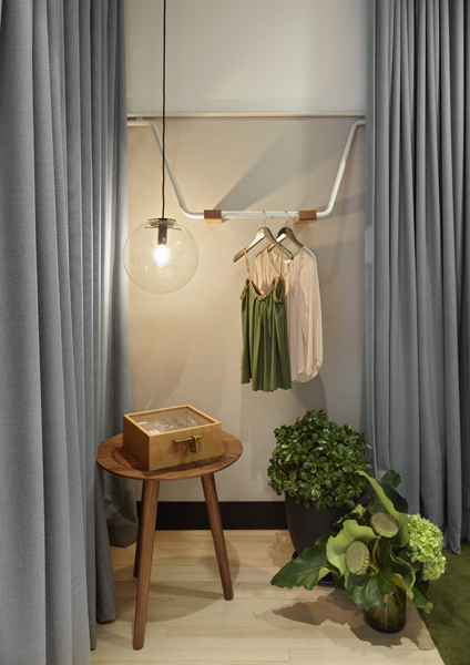 DesignOffice created a residential- inspired fitout for My Catwalk's retail space in Double Bay, Sydney. Photo by Dianna Snape