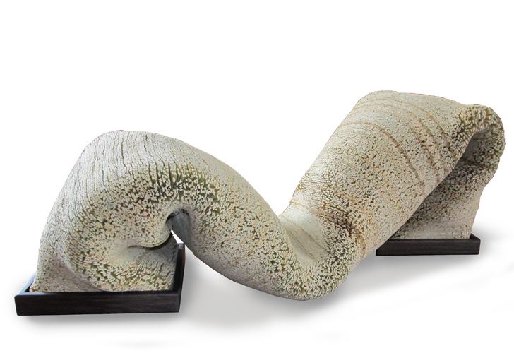 Juan Fernando Hidalgo, Flexible Lounger made from reed textiles. Photo courtesy the designer