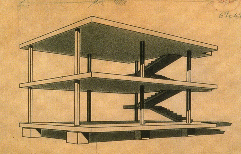 Maison-Domino-diagram-1914-Courtesy-Foundation-Le-Corbusier