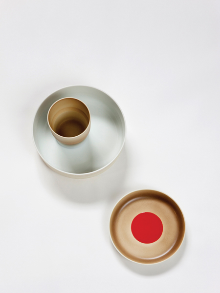 The layered compositions of Colour Porcelain for 1616 / Arita Japan (2012) is informed by traditional Japanese colours. Photo by Inga Powilleit