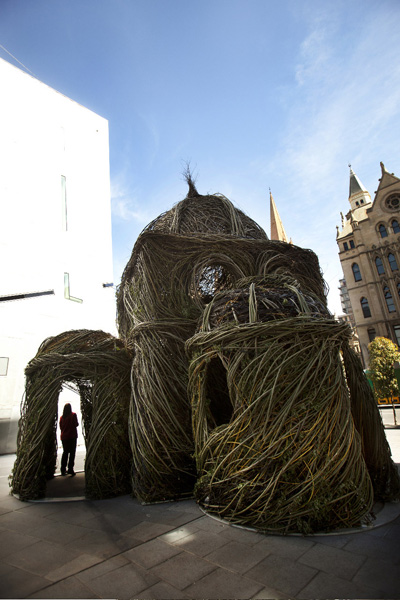 Wagstaff's Creative Services collaborated with Patrick Dougherty to create Stickwork