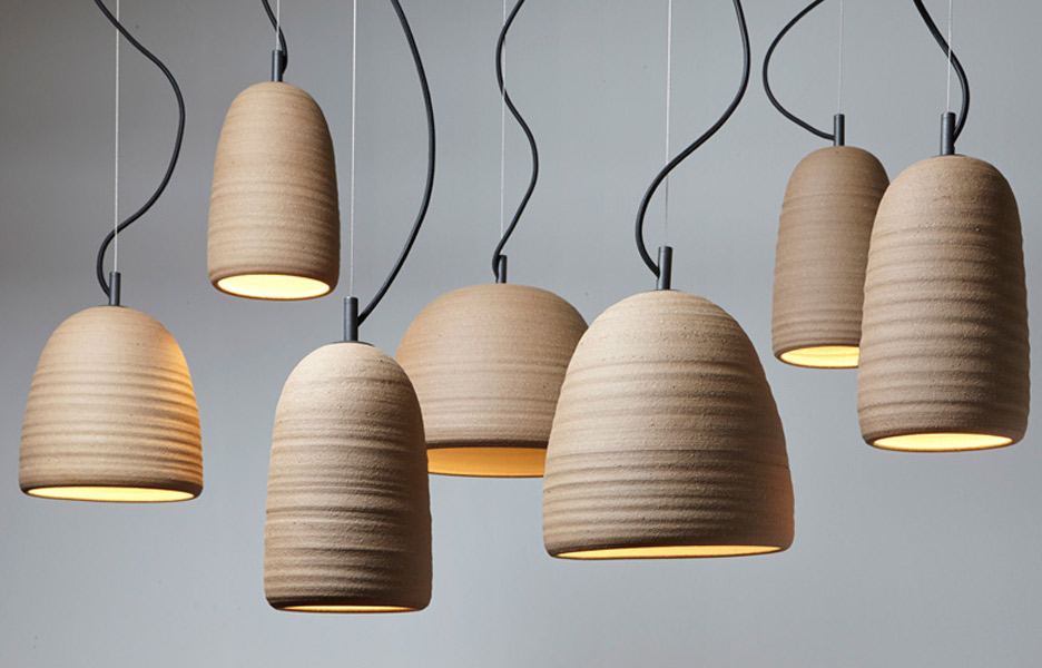 Adam Cornish Design's Stoneware Lighting