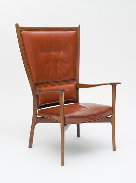 John Kapel b.1922Chair c. 1958 Walnut, leather LACMA, Purchased with funds provided by Martha and Bruce Karsh Photo © 2011 Museum Associates/LACMA