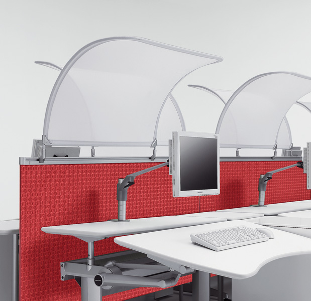 Honeycomb fabric in application on UCI Cruise workstation