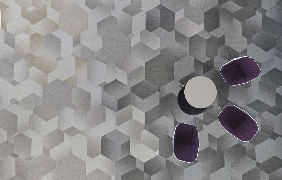 Hexagon carpet tile collection by Shaw Contract Group ...