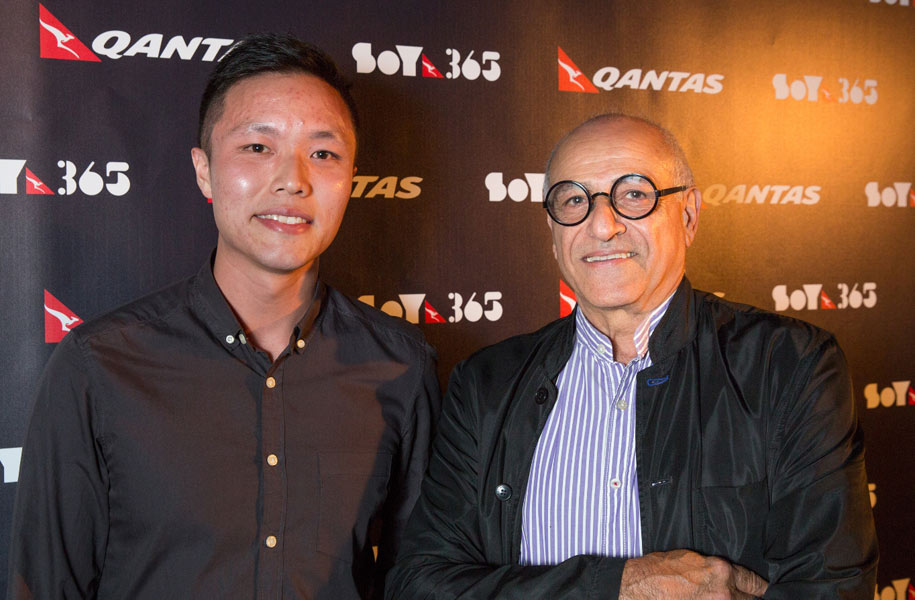 Architecture and Interior Design winner Michael Ong with Mentor Brian Zulaikha