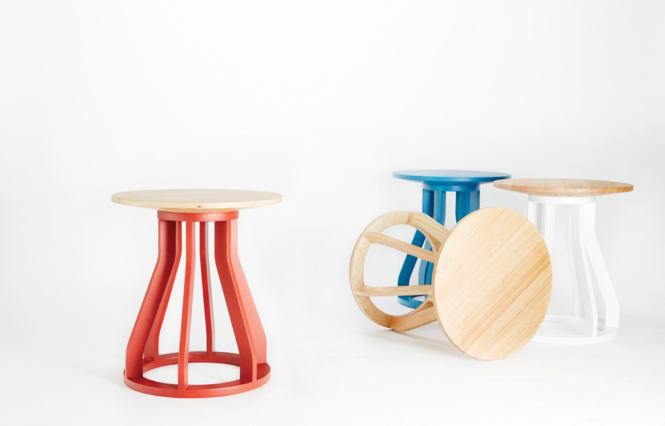 Dessein-Furniture_Spool-Stool_group_1