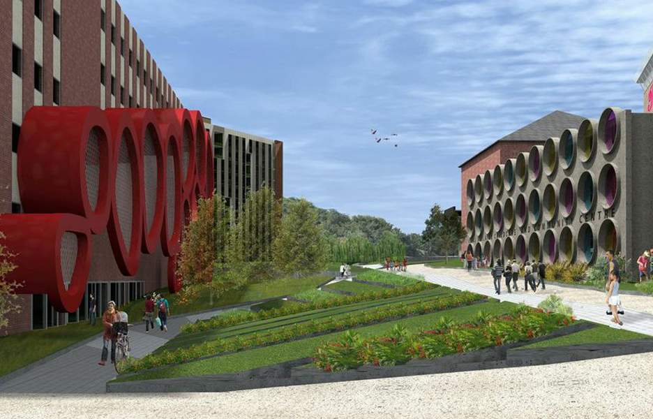 View to student accommodation in RAH proposal by Slash et al