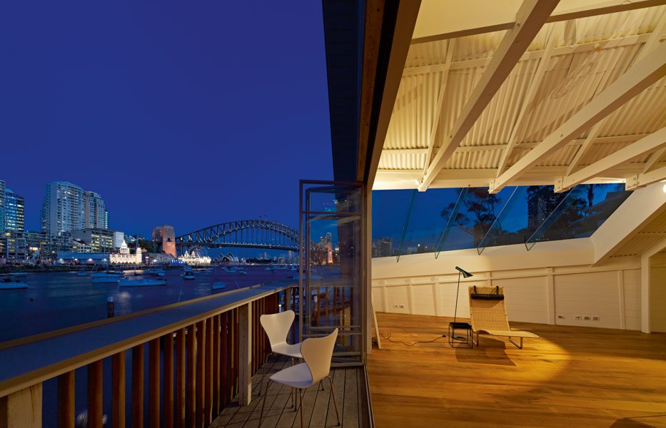 The balcony provides spectacular views of Sydney Harbour