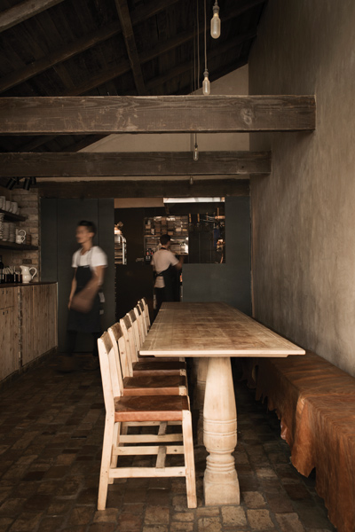 The Farmhouse, a compact restaurant in Potts Point, designed and part owned by Gurney. Photo by Michael Wee