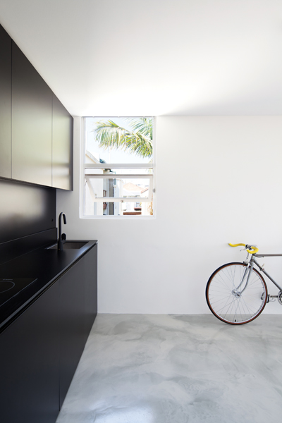Gurney's compact project, The Studio, a 27sqm studio in Woolloomooloo, Sydney