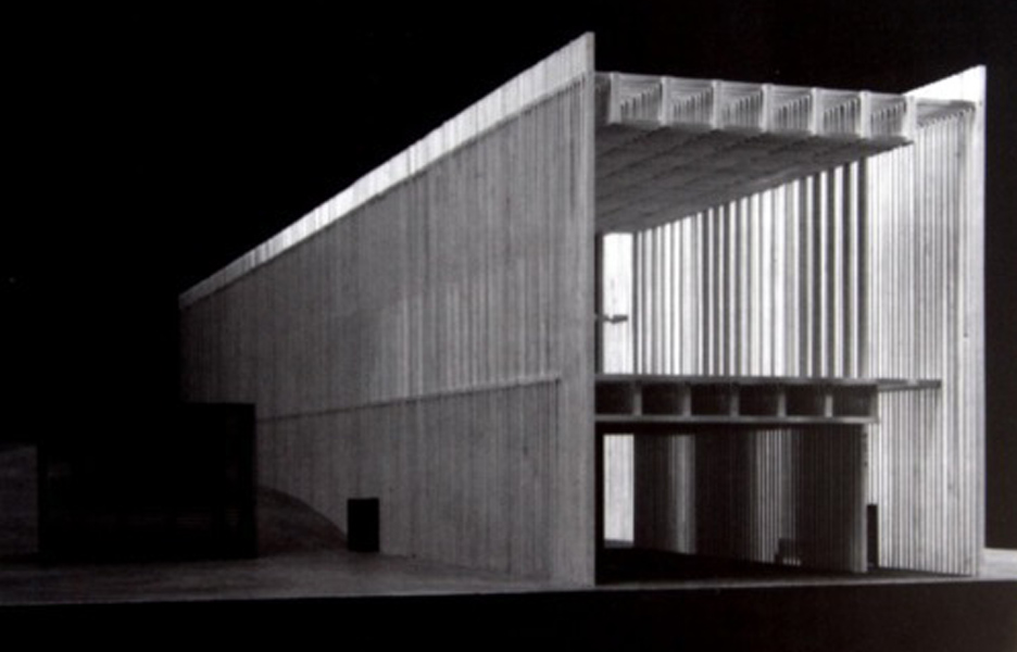 Model of Zumthor's Topography of Terror Museum. Image © Zumthor Tumblr
