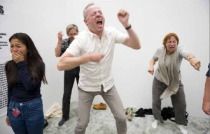 An image from Ringholt's previous participatory performance workshops
