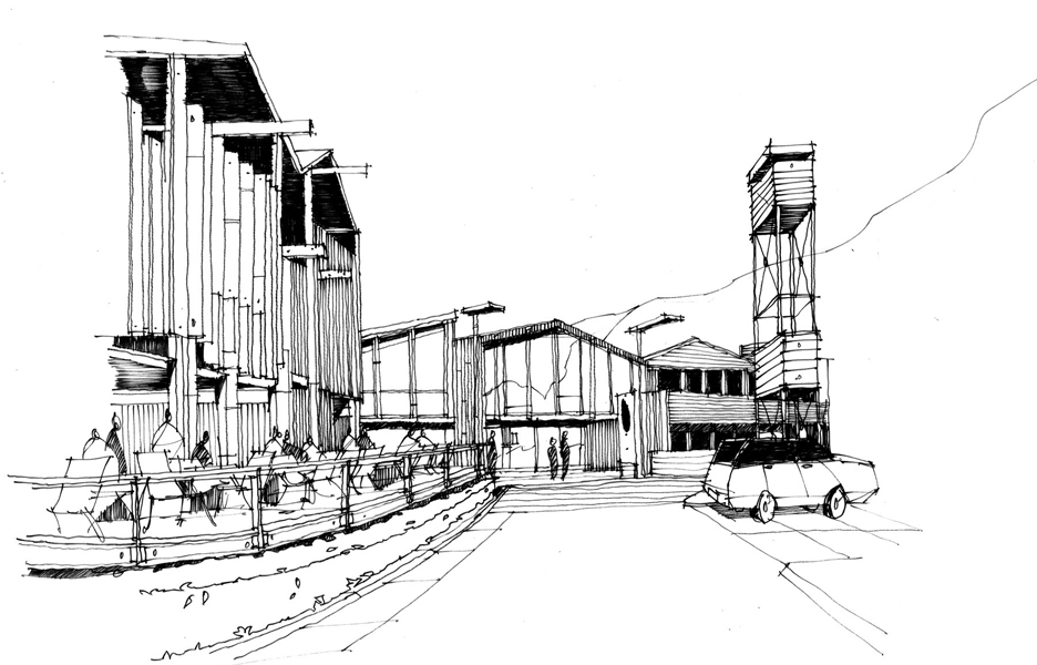 Concept sketch of Silo in Gorge Road