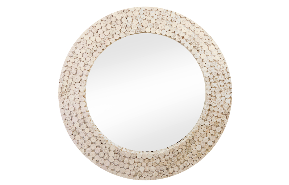 Recycled Paper Round Mirror