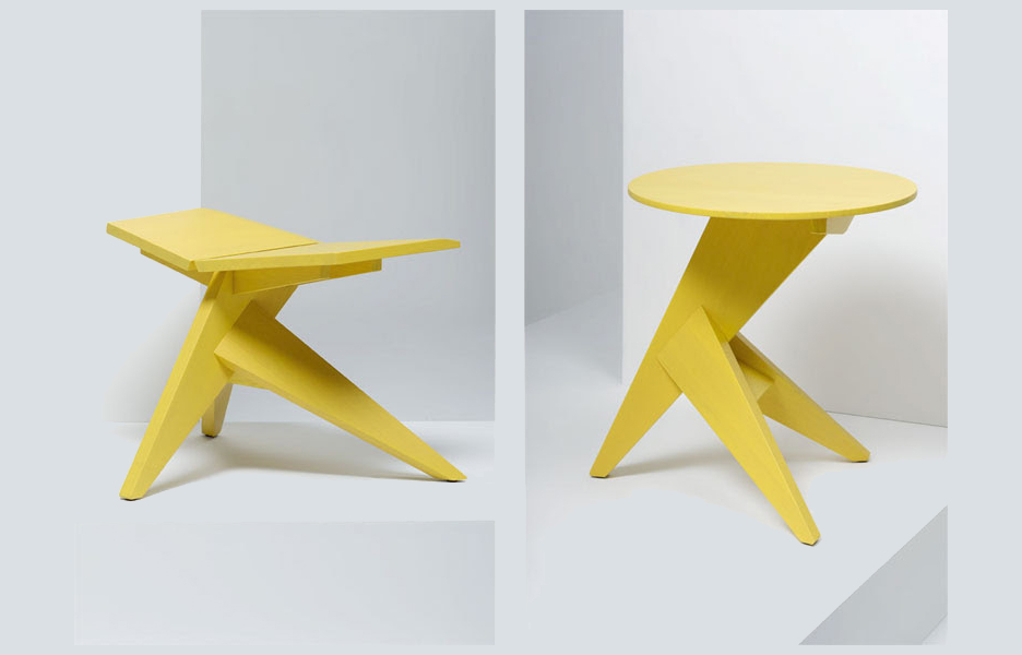 Medici stool and table