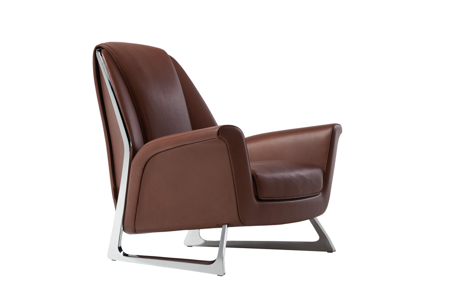 Luft chair in brown leather