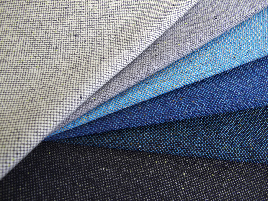 Calibre fabric in various colours