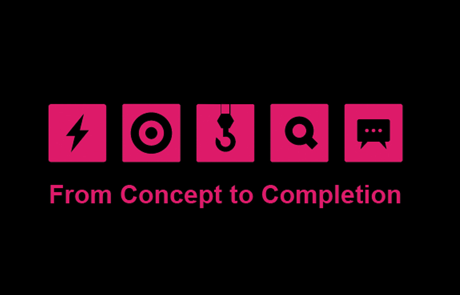 'From Concept to Completion' is AR's editorial idiom, outlining how the magazine operates in its new direction. The serialised articles each have their own logo to visually identify them on the page and online
