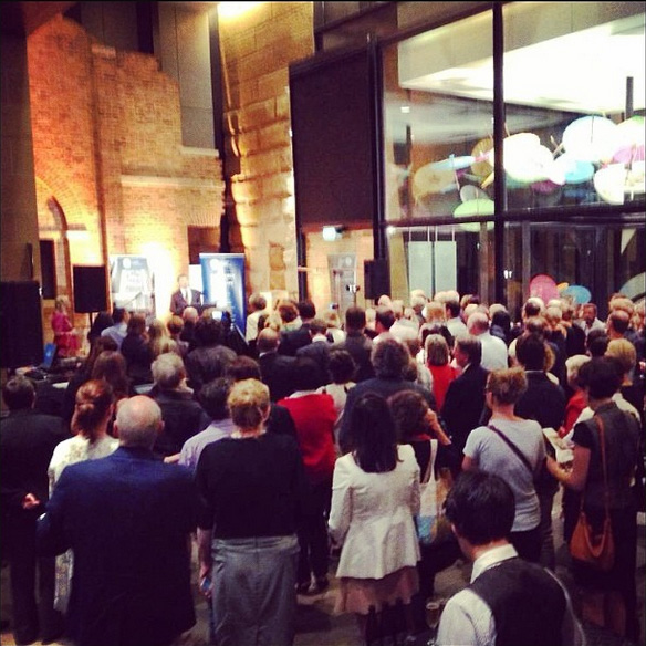 An image from the exhibition launch event