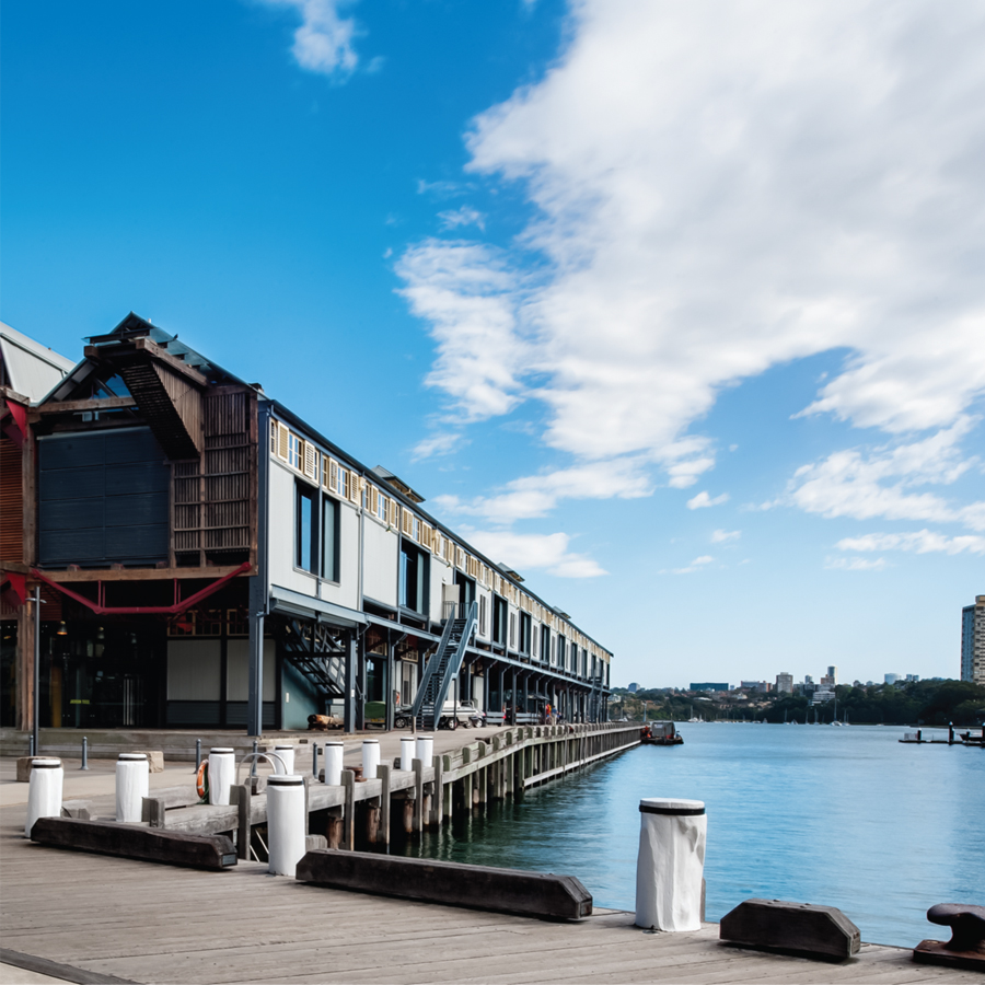 The Heritage listed circa 1913 pier 8/9 provides a grand platform for HASSELL Sydney studio