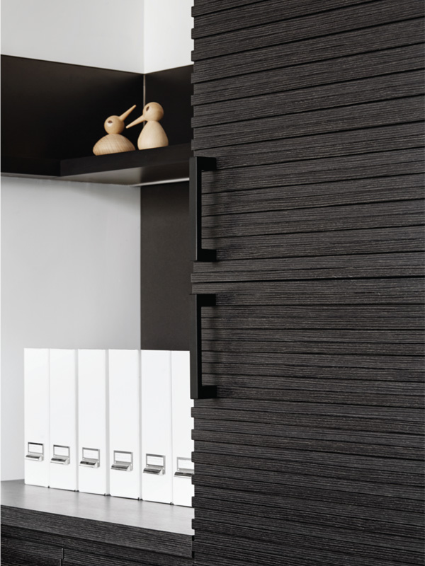Enviroven veneer from New Age Veneers has been used to add interest to storage cupboards