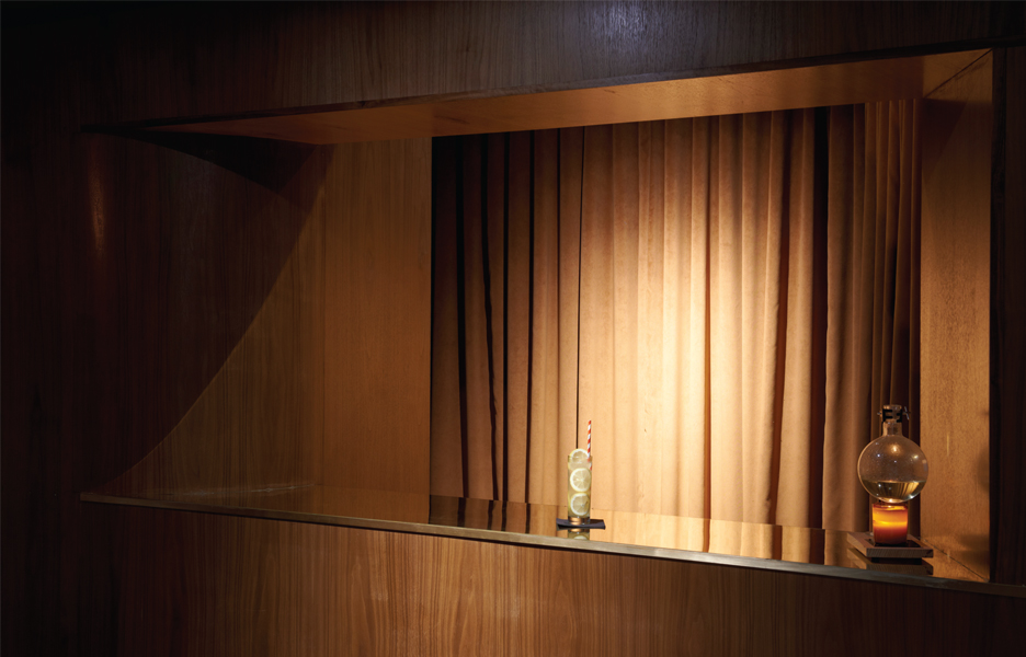 The ticket booth is a repository of calm elegance reminiscent of the mood of the 1940s cinematic period. Photography: Douglas Lance Gibson