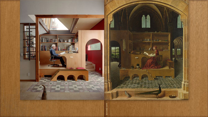 Toomath study modelled on St Jerome's study by Antonello
