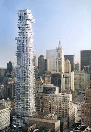 56 Leonard Street, New York, USA (2006-). Image Courtesy: Herzog & de Meuron