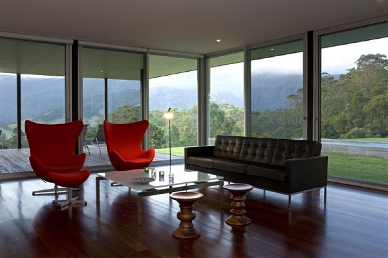 Arne Jacobsen chairs in-situ, House at Foxground, Berry NSW