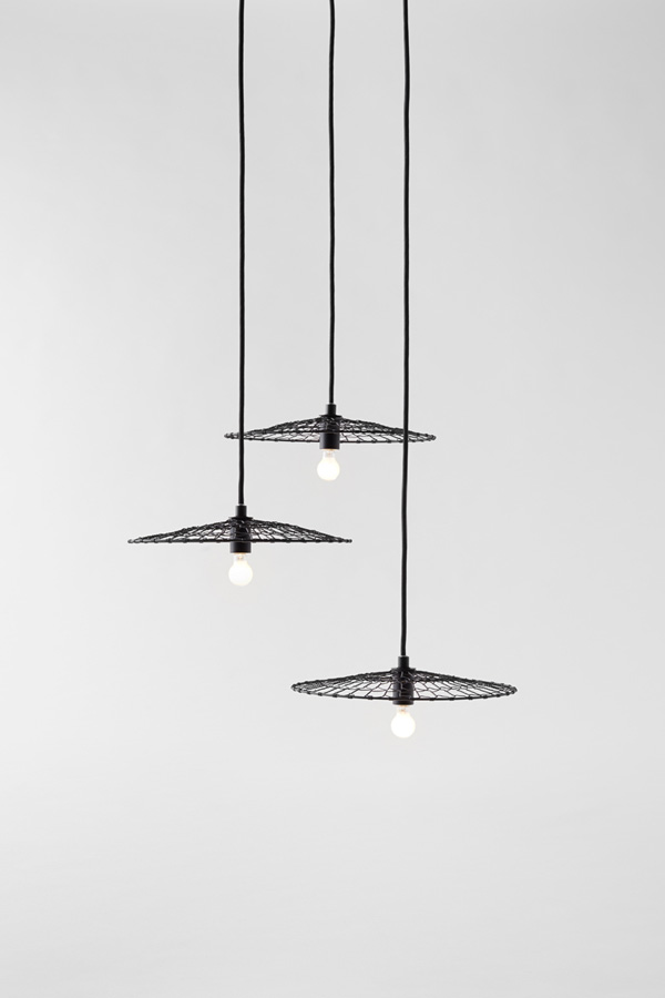 Nendo's Basket Lamps work well in clustered groups.