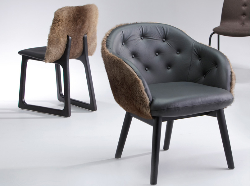 Collection of Vue chairs designed for Vue De Monde by Ross Didier for Ross Didier. Image courtesy of Ross Didier