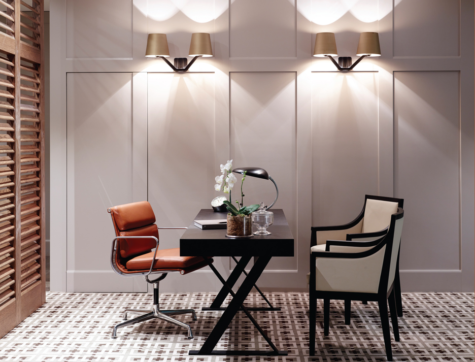 Tom Dixon Base Wall Light (dedece) and Grossman Cobra Lamp by Gubi (Corporate Culture)