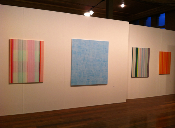 Installation, Karl Wiebke Painting, Liverpool Street Gallery, Melbourne Art Fair 2014