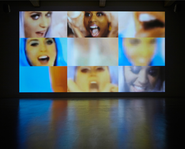 David McKewen, Title: Every face on Vanity Fair'sHollywoodcovers 1995-2008 Details: two-channel HD video installation with stereo sound, infinite loop. Year: 2009-2012