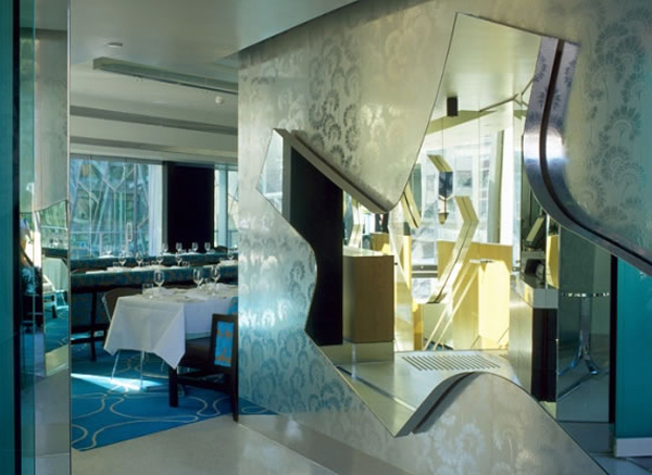 Mirrored surfaces add to the opulent interior. Image from www.kerryphelan.com.au