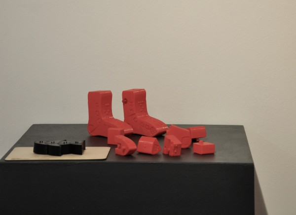 3D-printed educational braille puzzles; original (left) and Beantown puzzle (right) design by Edrie Ortiga. Photograph: Charles Rowe