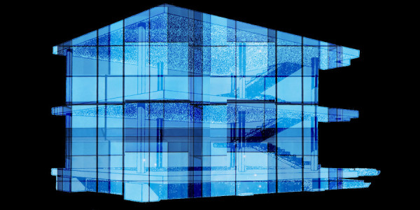 Le Corbusier Dom Ino diagram with generic curtain wall overlay. Image courtesy Annabel Koeck