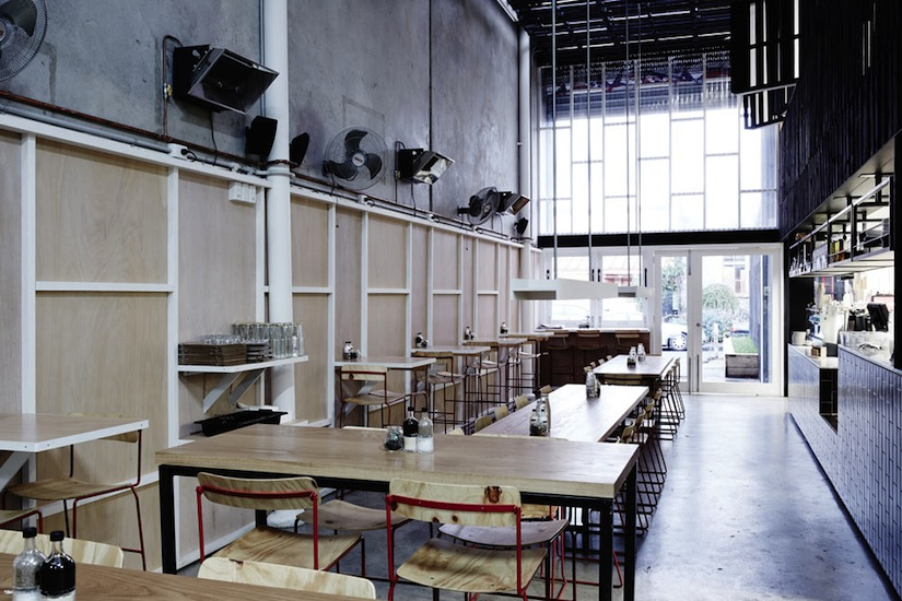 Industry Beans Cafe and Roastery by Figureground Architecture. Photography by Luke Brice and Sean Fennessey