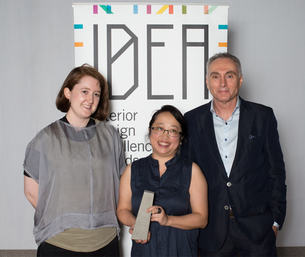 Claire Humphreys and Lynn Chew from Kerstin Thompson Architects with Kim Harper of Royal Oak Floors
