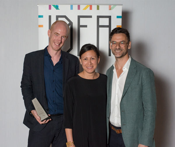 Christina Caredes of SPACE furniture with Mark Simpson and Damien Mulvihill of DesignOffice