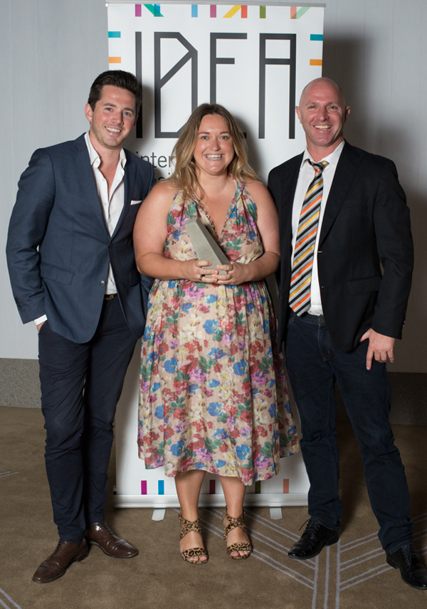 Christoper Glanville and Megan Burns of C+M Studio with Peter Townsend of Zenith