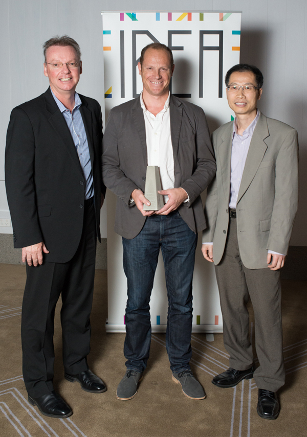 Peter Byrnes from Workspace with Mark Curzon and Simon Zou of
