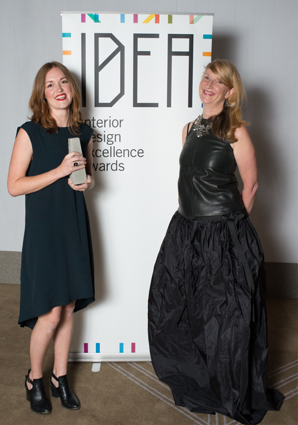 Fran Parker of Coco Flip with coeditor of (inside) Interior Design Review, Gillian Serisier