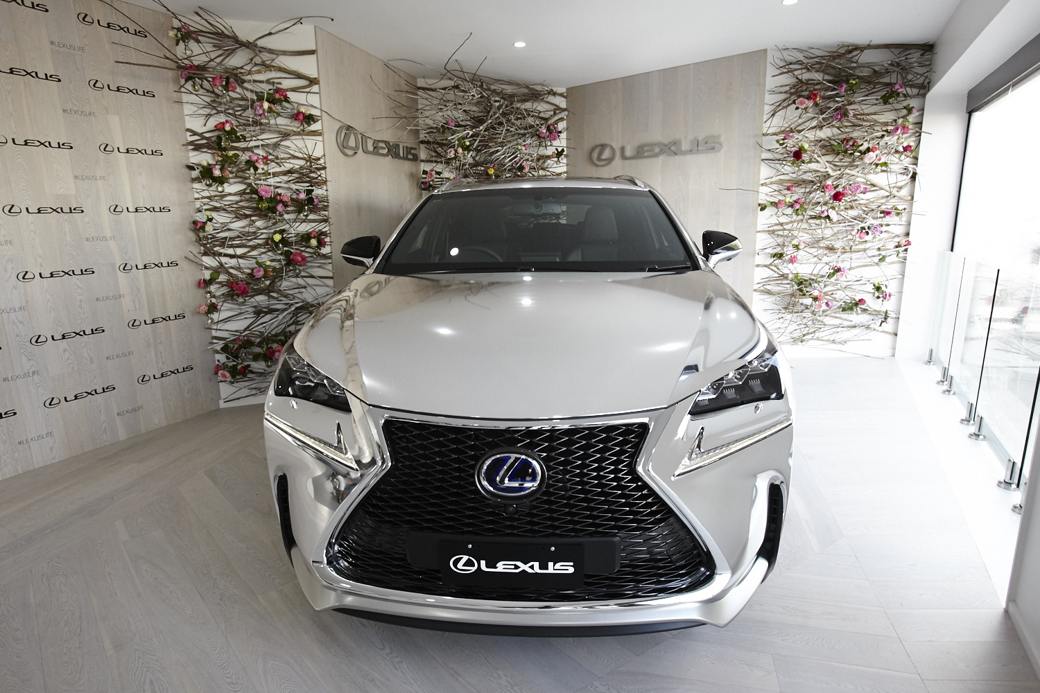 Lexus NX at the entry to the pavilion. Image courtesy Chloe Paul and Lexus Australia.