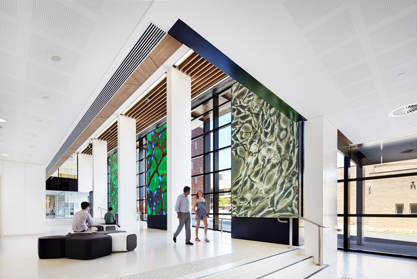 Harry Perkins Institute of Medical Research by Hames Sharley. Photo by Robert Frith from Acorn